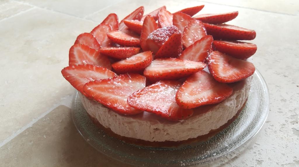 Gâteau nuage de fraise & citron vert