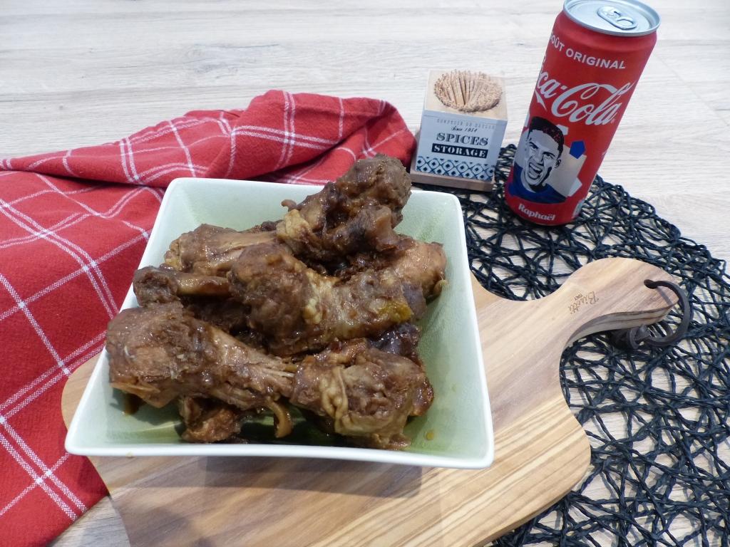 Poulet caramélisés au coca cola